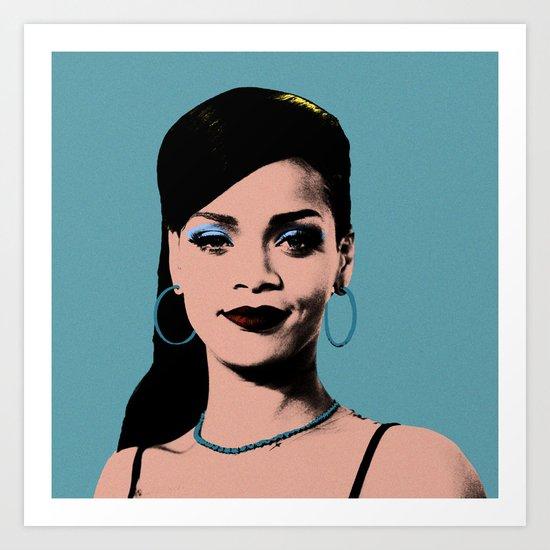 Rihanna Pop Art Art Print
