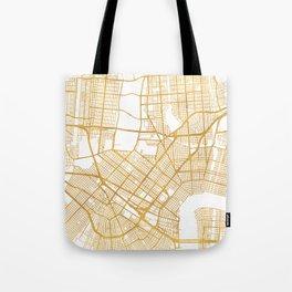 NEW ORLEANS LOUISIANA CITY STREET MAP ART Tote Bag