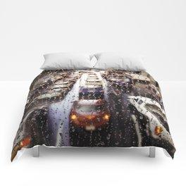 Rainy Rush Hour Comforters
