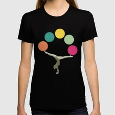 Gymnastics II Black SMALL Womens Fitted Tee