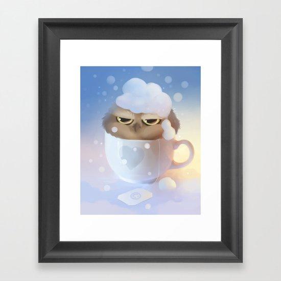 cup of owl Framed Art Print
