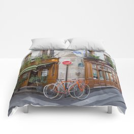 Cute Corners of Paris Comforters