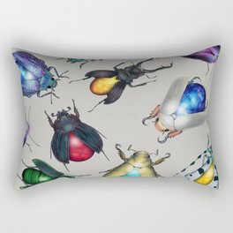 Colorful Mineral Beetles Rectangular Pillow