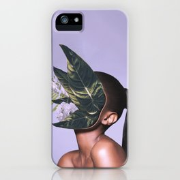 I got plants in my face but don't call me a plant face. iPhone Case