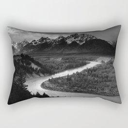 Ansel Adams - The Tetons and Snake River Rectangular Pillow