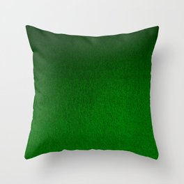 Emerald Green Ombre Design Throw Pillow