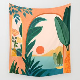 Tropical Evening Wall Tapestry