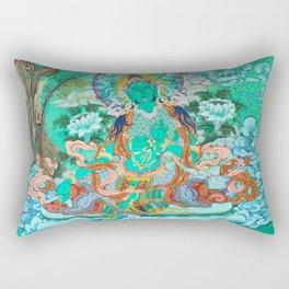 Green Tara Rectangular Pillow
