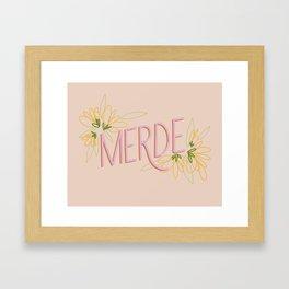 Merde Framed Art Print