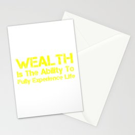 Wealth 4 Stationery Cards