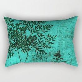 Botanical Turquoise Rectangular Pillow