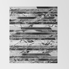Black And White Layered Collage - Textured, mixed media Throw Blanket