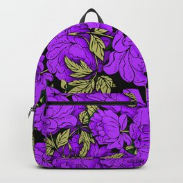 Purple Peonies Backpack