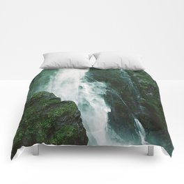 Milford Sound Waterfall Comforters