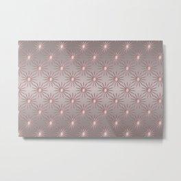 Elegant Star Pattern Rose Quartz Metal Print