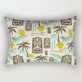 Island Tiki - Tan Rectangular Pillow