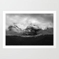 French Alps, Chamonix, France. Art Print