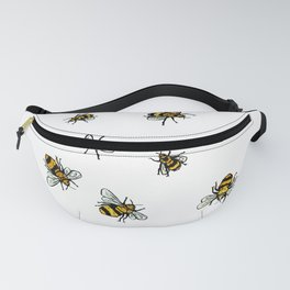 Just Some Beez A - White Fanny Pack