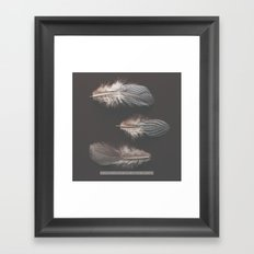 feathers appear when angels are near Framed Art Print