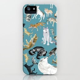 Wolves of the World pattern 2 iPhone Case