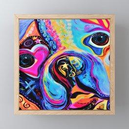 Boston Terrier Close Up Framed Mini Art Print