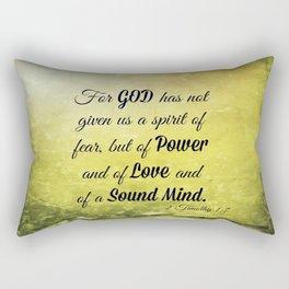 Scripture 2 Timothy 1:7 Rectangular Pillow