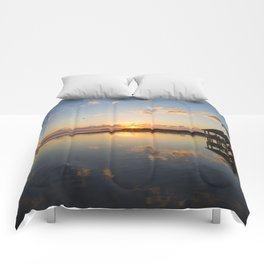 Gazebo at Sunset Comforters
