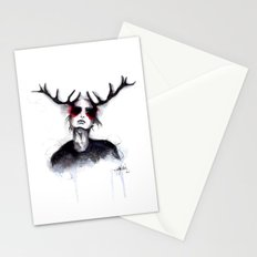 Antlers // Fashion Illustration Stationery Cards
