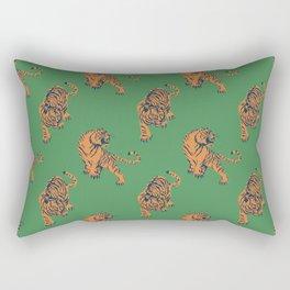 tiger print green Rectangular Pillow