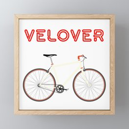 VeLover – Racer – June 12th – 200th Birthday of the Bicycle Framed Mini Art Print