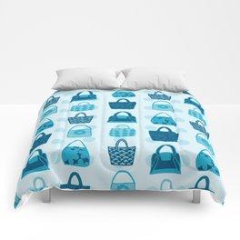 Handbag Heven Blues with Spots Comforters