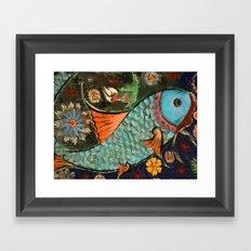 Fish Mosaic Framed Art Print