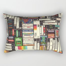 Cassettes, VHS & Games Rectangular Pillow
