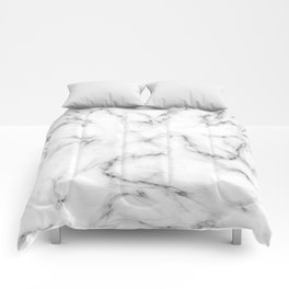 Deep Marble Texture Black White Comforters