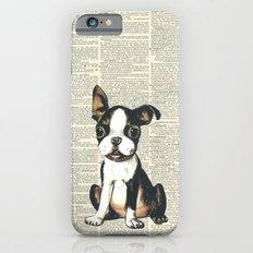Boston Terrier Vintage Puppy Slim Case iPhone 6