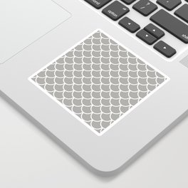 Grey Fish Scales Pattern Sticker