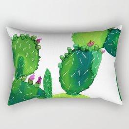 Opuntia 1 - Acohol Ink Rectangular Pillow