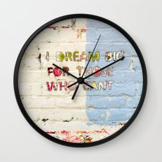 Dream Big 2 Wall Clock