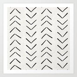 Mud Cloth Big Arrows in Cream Art Print