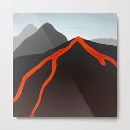 Volcanic Activity Metal Print