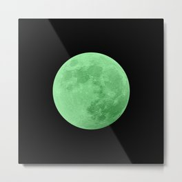 LIME MOON // BLACK SKY Metal Print