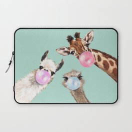 Bubble Gum Gang in Green Laptop Sleeve