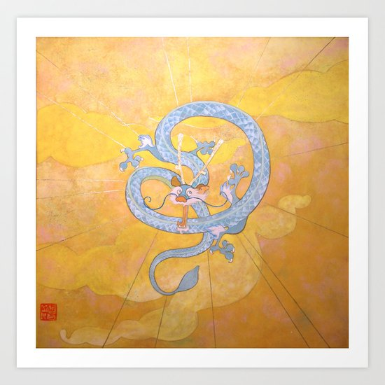 Happy Chinese New Year of the Dragon! Art Print