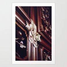 Silver door Art Print