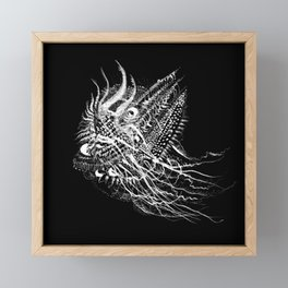 deep sea Framed Mini Art Print