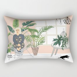 girl in the room Rectangular Pillow