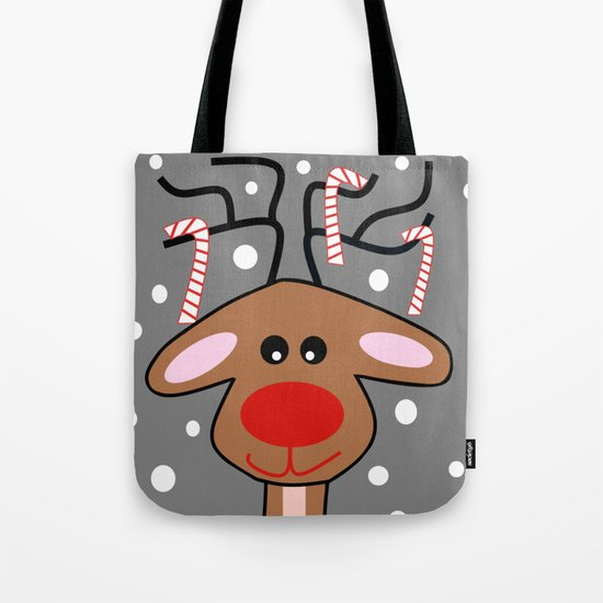 Happy Reindeer Tote Bag
