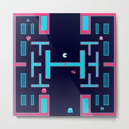 Pacman #36DaysOfType Metal Print