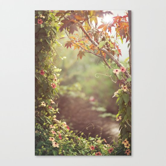 we were talking about the space between us Canvas Print
