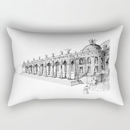 Temple . XVIII Century. Drawing by Tereza Del Pilar Rectangular Pillow
